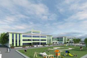Cho thuê mặt bằng làm xuất khẩu lao động, trường học 400m2 x 3 tầng + sân tại phùng khoang