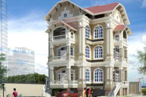 Cho thuê biệt thự Tô Ngọc Vân 300m2, xây 155m2 x 5 tầng làm mầm non, VP…