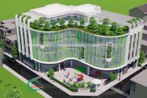 Cho thuê trường học 7800m2 đất xây 28% x 3.5 tầng tại Sài Đồng